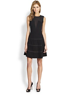 ERIN by Erin Fetherston - Mesh Detail Flared Dress