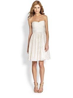 ERIN by Erin Fetherston - Strapless Bandage & Chiffon Dress