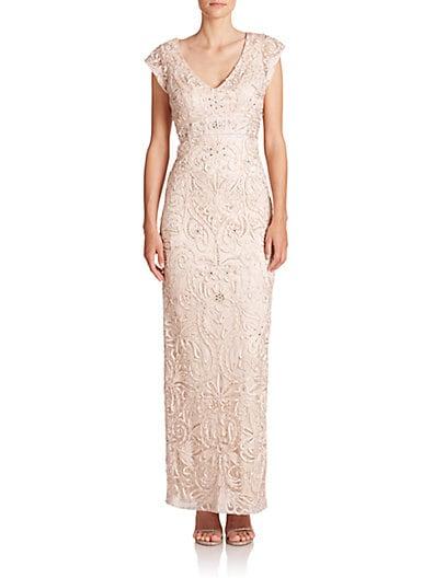 Soutache Column Gown $412.71 AT vintagedancer.com