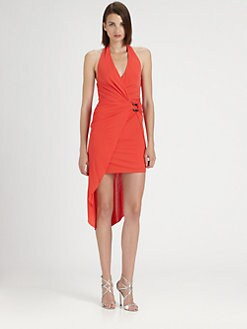 Halston Heritage - Layered Matte Jersey Dress