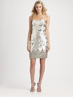 ABS - Strapless Sequin Dress