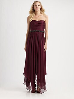 ABS - Silk Strapless Dress