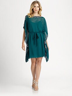 Aidan Mattox - Sequined Caftan Dress