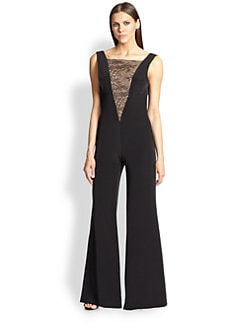 ABS - Lace-Insert Jumpsuit