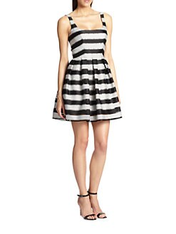 ABS - Flared Stripe Dress