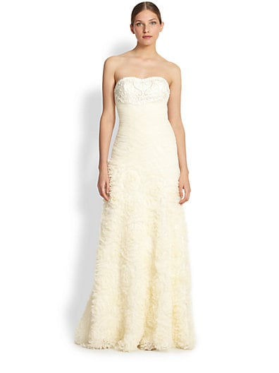 7a52b104099 Sue Wong Strapless Tulle Gown Ivory on PopScreen