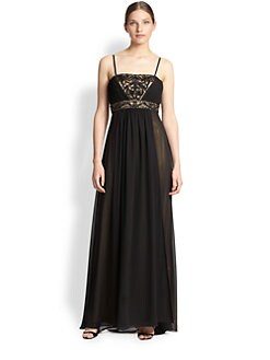 Sue Wong - Beaded Empire Chiffon Gown