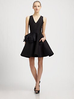 Halston Heritage - Side Ruffle Dress