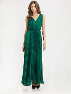 Halston Heritage - Pleated Gown