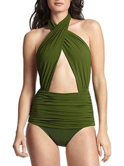 Norma Kamali - Crisscross One-Piece Swimsuit <br>