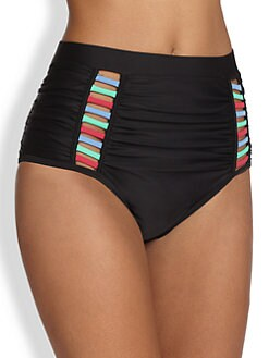 6 Shore Road - High-Waisted Cutout  Bikini Bottom