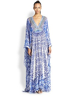 Camilla - Silk Chiffon Long Sleeve Caftan <br>