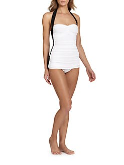 Norma Kamali - One-Piece Bill Colorblock Swimsuit