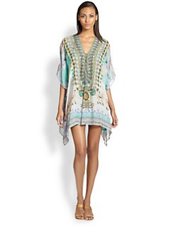 Camilla - Silk Lace-Up Caftan
