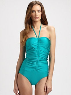 Zimmermann - One-Piece Ruched Vase Swimsuit