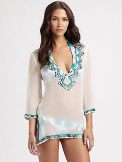Milly - Silk Palette-Trim Coverup