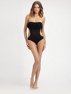 L*Space - One-Piece Free Love Fringe Swimsuit