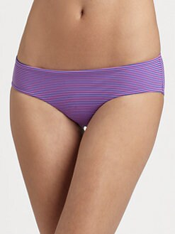 Zimmermann - Striped Low-Rise Bikini Bottom
