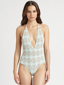Tori Praver Swim - One-Piece Kelly Halter Swimsuit