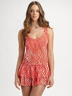 Milly - Cotton St. Martin Ruffle Coverup