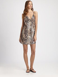 Cia.Maritima Swim - Python Cowl Neck Coverup