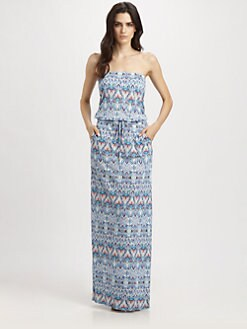 Melissa Odabash - Printed Strapless Maxi Dress