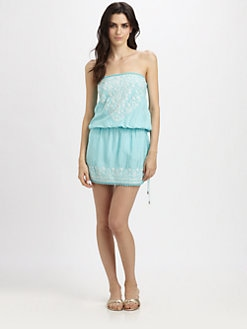 Melissa Odabash - Embroidered Strapless Dress