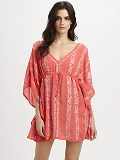 Melissa Odabash - Embroidered Short Caftan