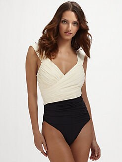 Clube Bossa - One-Piece Draped Swimsuit