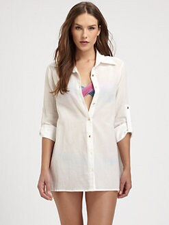 Clube Bossa - Cotton Roll-Tab Blouse