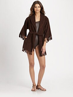 Lisa Marie Fernandez - Fringe-Trim Terry Beach Robe