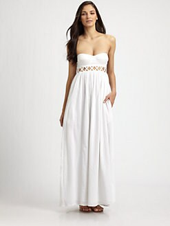 Mara Hoffman - Frida Strapless Lattice Dress