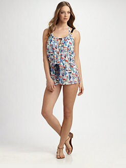 Milly - Silk/Cotton Cisco Coverup