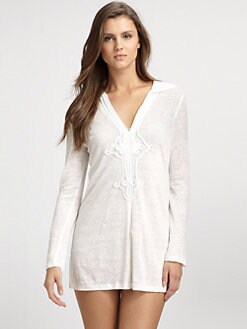 Joie - Hooded Linen Tunic