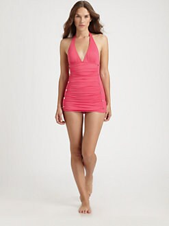 Juicy Couture - One-Piece Halter Swimdress