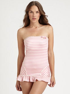Juicy Couture - One-Piece Boudoir Stripe Swimdress