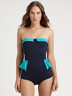 Marc by Marc Jacobs - One-Piece Peplum Swimsuit