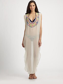 Mara Hoffman - Silk Electric Casino Beaded Coverup