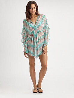 Shoshanna - Silk Chiffon Ikat Tunic
