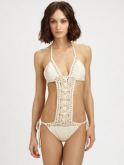 Anna Kosturova Swim - One-Piece Filigree Swimsuit