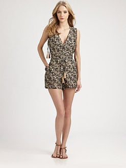 Onda De Mar Swim - Cotton/Silk Loulan Short Jumpsuit