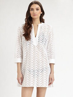 Shoshanna - Cotton Waves Eyelet Coverup