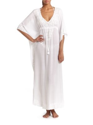 Marie Embroidered Long Caftan plus size,  plus size fashion plus size appare