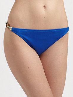 Milly - Solid Shimmer Laguna String Bikini Bottom