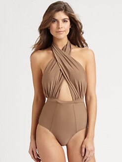 6 Shore Road - One-Piece Cabana Halter Swimsuit