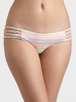 Tori Praver Swim - Shyla Multi-Stripe Bikini Bottom