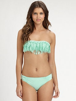 L*Space - Dolly Knotted-Fringe Bandeau Top