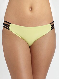 L*Space - Colorblock Strappy-Side Bikini Bottom