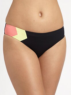 L*Space - Colorblock Geo Hipster Bikini Bottom