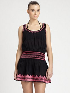 Shoshanna - Embroidered Tank Dress